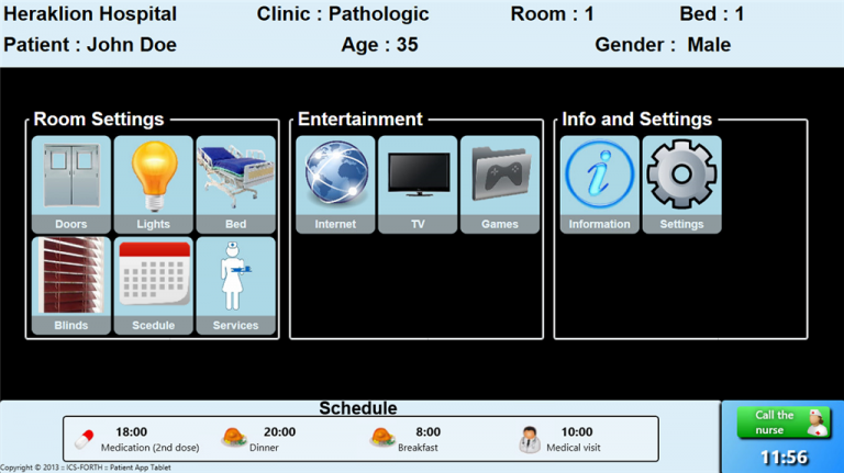 Ambient Intelligence for e-Health