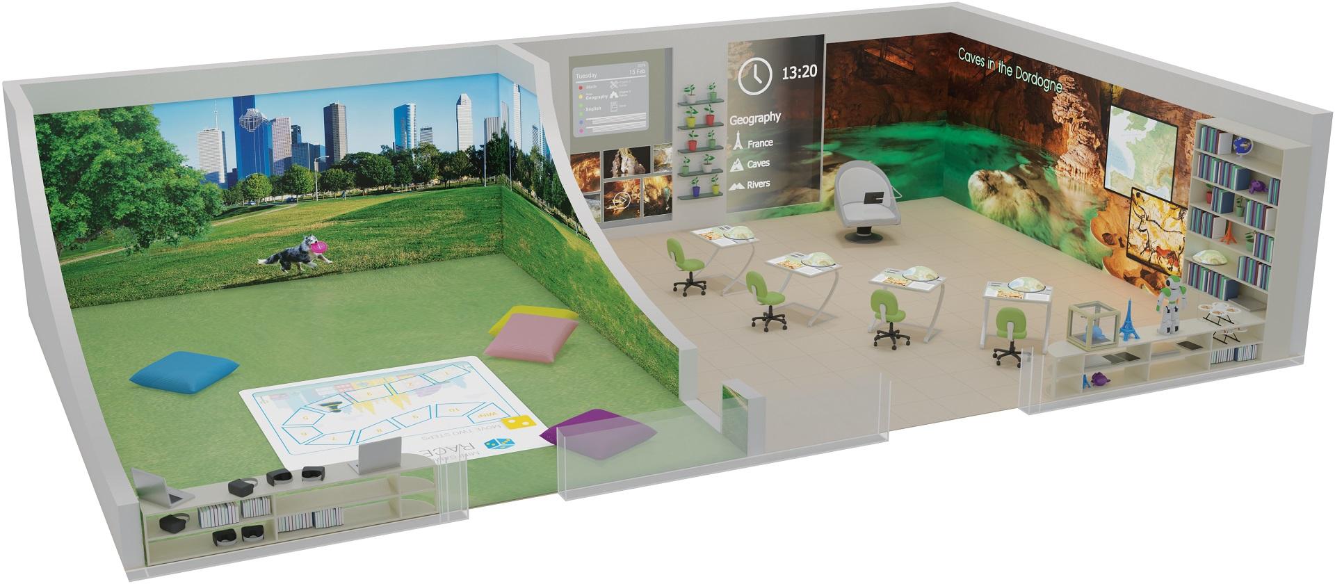3D representation of the Intelligent Classroom