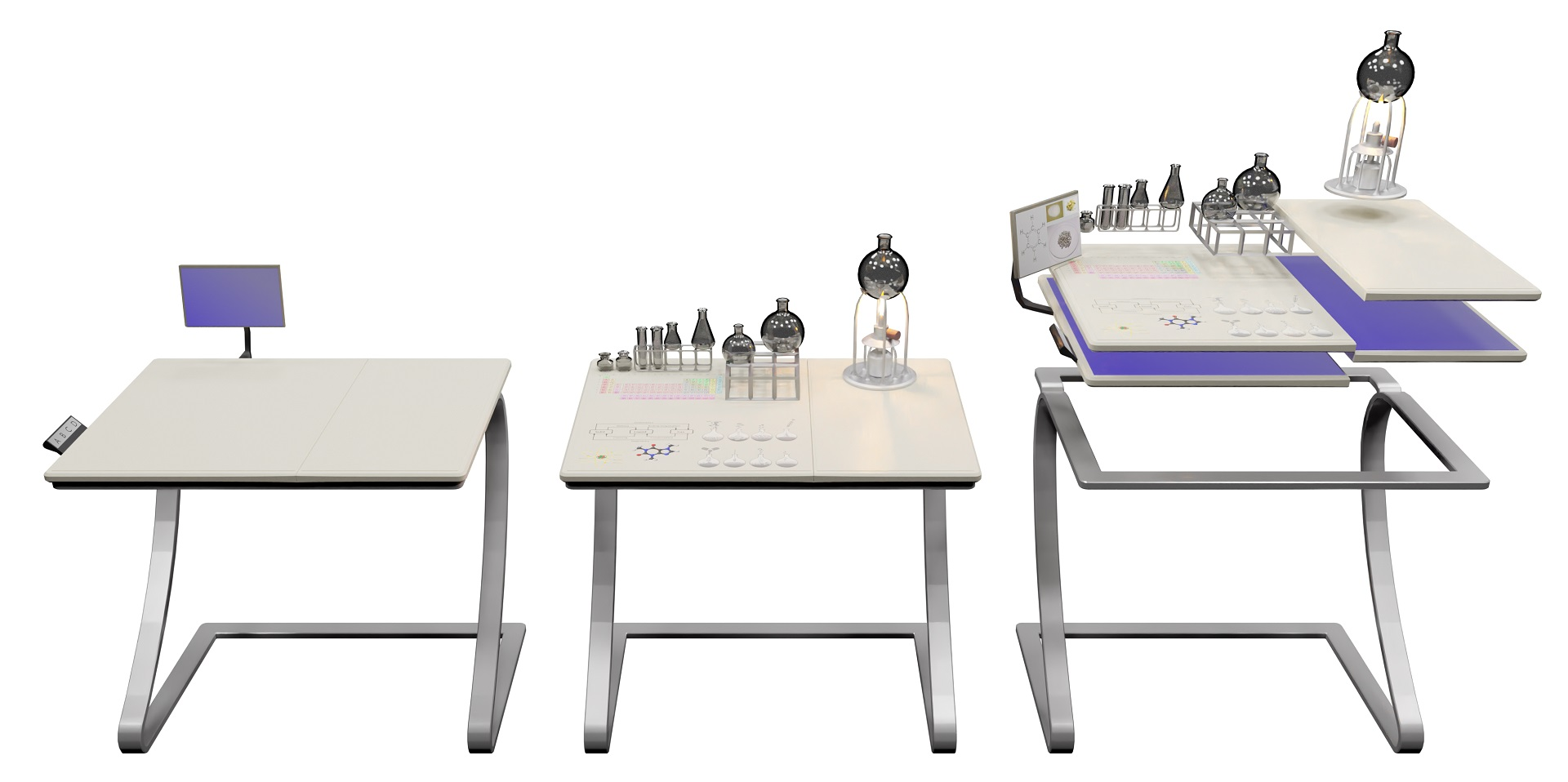 3D Representation of the Intelligent Student Desk (modDesk)