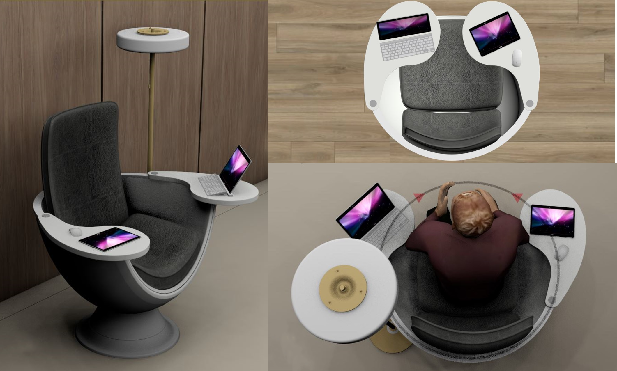 3D Representation of the Lector Podium